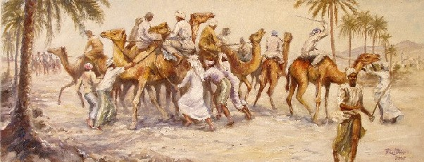 Painting of Camel Race, Oman