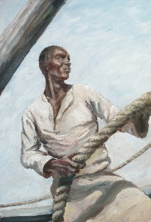 Painting of Dhow Crewman