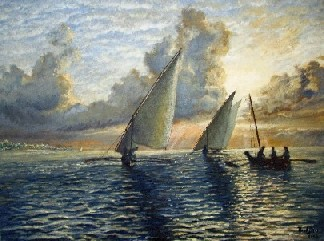 Painting of Fishing Dhows