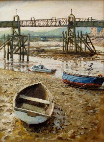 Painting of the Footbridge, Shoreham by Sea