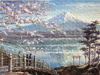Painting of Mount Fuji