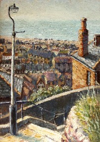 Painting of Hastings from West Hill