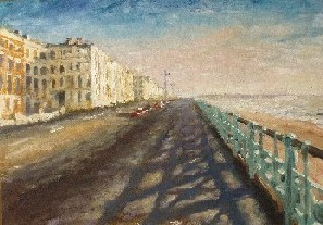 Painting of Kingsway, Brighton