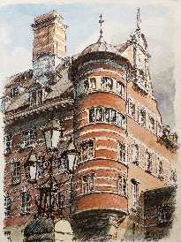 Painting of Scotland Yard, Westminster
