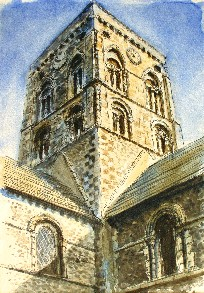 Painting of St Mary's, Shoreham by Sea